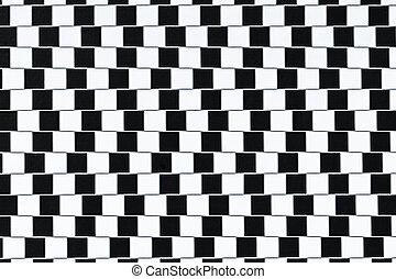 óptico, líneas, ilusión