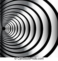 óptico, metálico, ilusão