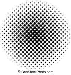 óptico, puntos, radial, gradiente