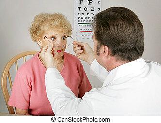 óptico, série, -, novo, prescrição