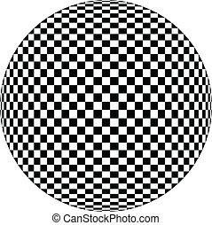 óptico, um, ilustração