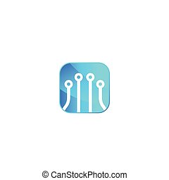 óptico, vetorial, fibra, tecnologia, logotipo