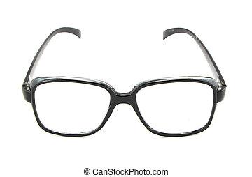 óptico, vindima, óculos, isolado