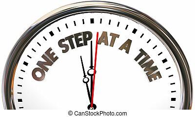 óra, ábra, egy, lábnyom, szavak, idő, 3