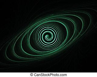 órbita, espiral
