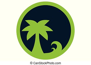 ö, vektor, grön, logo