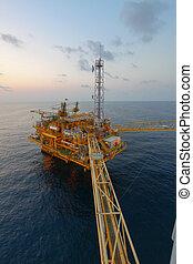 öböl, gáz, emelvény, olaj