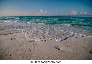 öböl, mexikó, florida, színhely, tropikus, tenger, ...