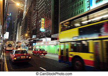 öffentlichkeit transport, in, hongkong, porzellan
