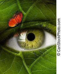 ögon, blad