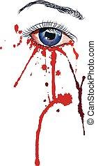 ögon, blod