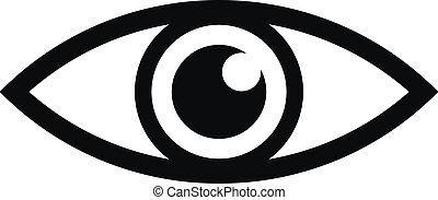 ögon, ikon