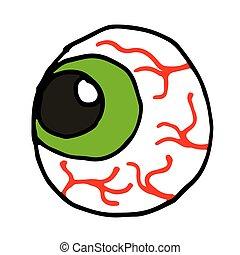 ögon, klotter, illustration, vektor, bakgrund, vit, tecknad film