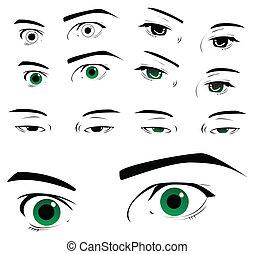 ögon, kollektion