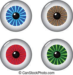 ögon, konstgjort