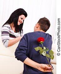 ögonblick, romantisk