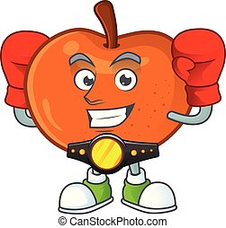 ökölvívás, character., mandarin, lédús, friss, karikatúra