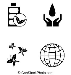 ökológia, állhatatos, ikon