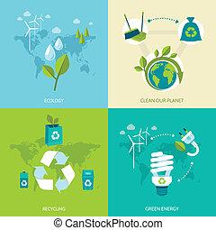 ökológia, és, újrafelhasználás, állhatatos