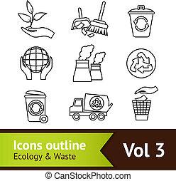 ökológia, ikon, állhatatos, áttekintés