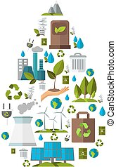 ökológia, ikon, állhatatos