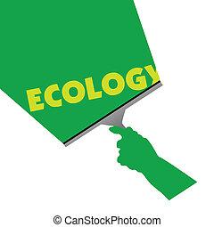 ökológia, takarítás, ábra