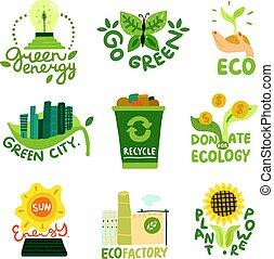 ökológiai, restaurálás, emblémák