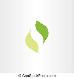 ökologie, blatt, symbol, element, vektor, grün, logo, ikone