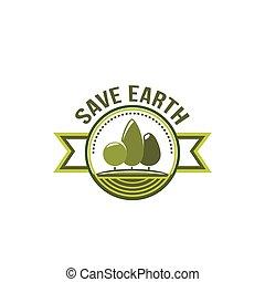 ökologie, eco, baum, umwelt, vektor, grün, ikone