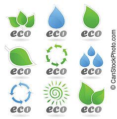 ökologie, ikone