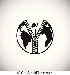 ökologie, macht, global, probleme, hintergrund, weißes