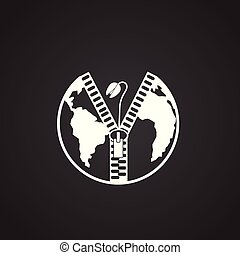 ökologie, macht, global, probleme, schwarzer hintergrund