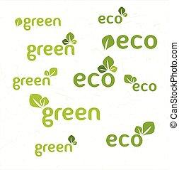 ökologie, satz, ikone