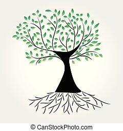ökologie symbol, baum, vektor, logo, ikone