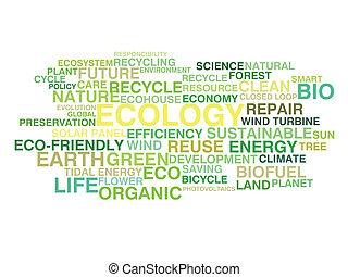 ökologie, und, stützbare entwicklung