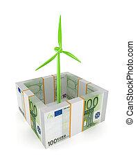 ökologisch, energie, concept.