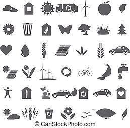 ökologisch, sammlung, heiligenbilder