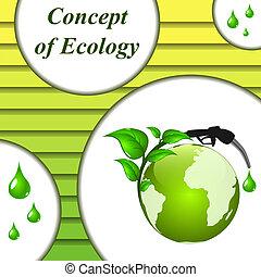 ökologisch, vektor, hintergrund, fuel.