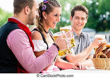 öl, bavaian, salt kringla, gästgivargård, folk