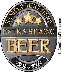 öl, design, etikett