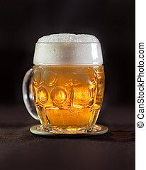 öl, in, tjeck, traditionell, kopp