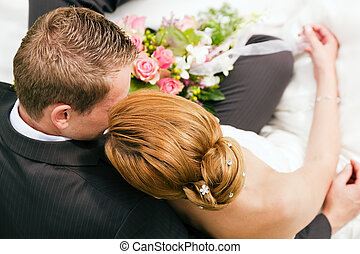 ömhet, -, bröllop