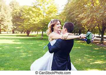 Ömhet, par, bröllop