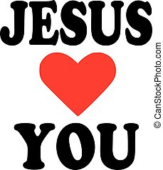 ön, jézus, szeret, ikon