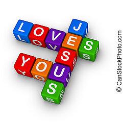 ön, szeret, jézus