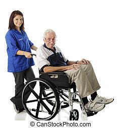 önkéntesség, noha, a, öregedő