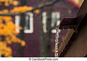 öntés, rainwater, háztető