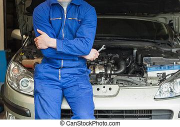 öppen övertäck, böjelse, bil mekaniker