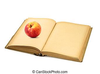 öppen beställ, med, äpple