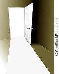 öppen dörr